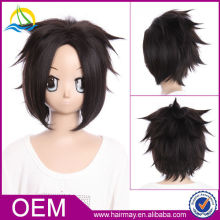 Chinese Supplier Heat Resistant Final Fantasy Black Cosplay Wig
