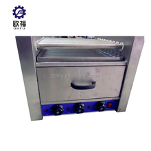 delicious electric sausage roasting machine with bun warmer / hot dog warmer machine