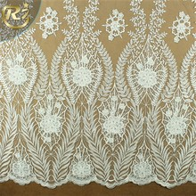 LF-383 Lady Evening Dress Accessory Precision Hand Made Serried White Guipure Lace Fabric