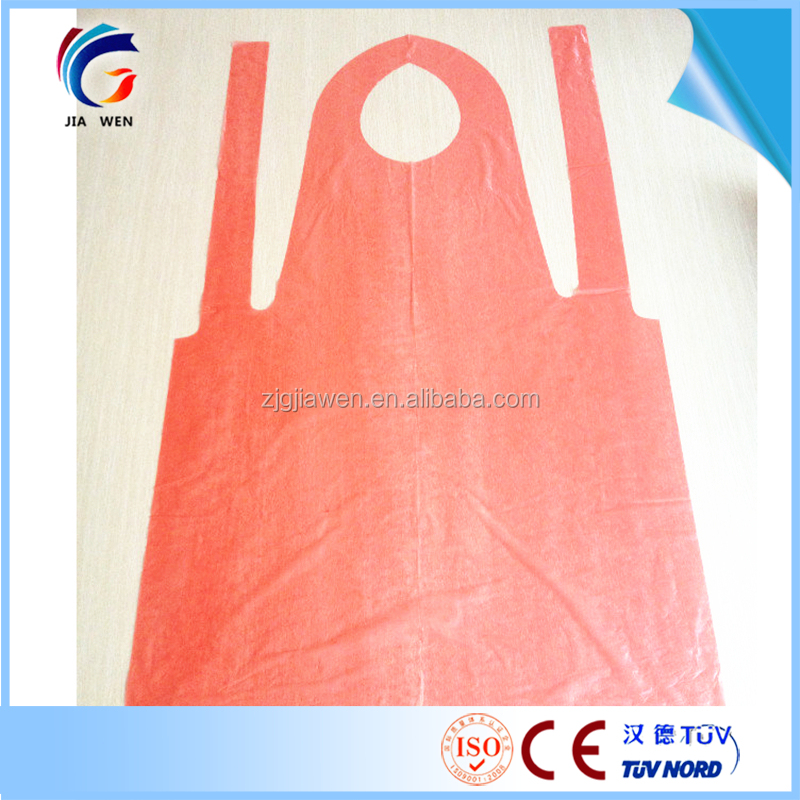 Disposable ldpe hdpe pe apron unsed in hairdressing salon for Food Service