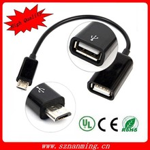 White/Black Micro USB Mobile Phone OTG Connect Kit Cable