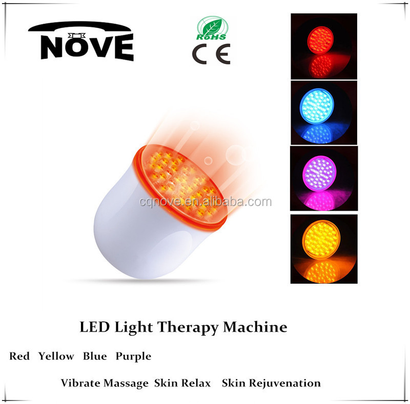 Mini Portable 7 Colors LED lights Therapy Photon Ultrasonic Facial skin care Beauty Machine