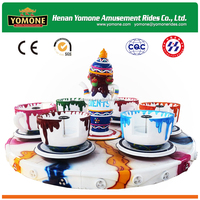 Hot selling amusement park playground family coffee cup rides for kid games