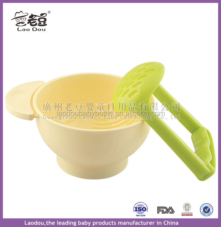 NEW 2016 Baby Food Mills DIY TOOL, Baby Food Grinder Bowl Make Your Own Baby Food Orange/green