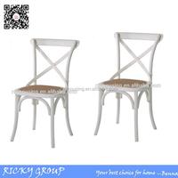 White Cross back wedding chair cane seat RQ-A001A