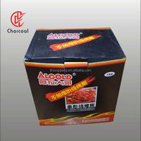 Coco charcoal briquettes in 1kg/box Packing