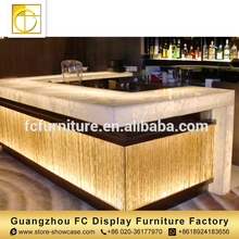 high class furniture commercial wine furniture modern coffee juice bar design led bar counter for sale