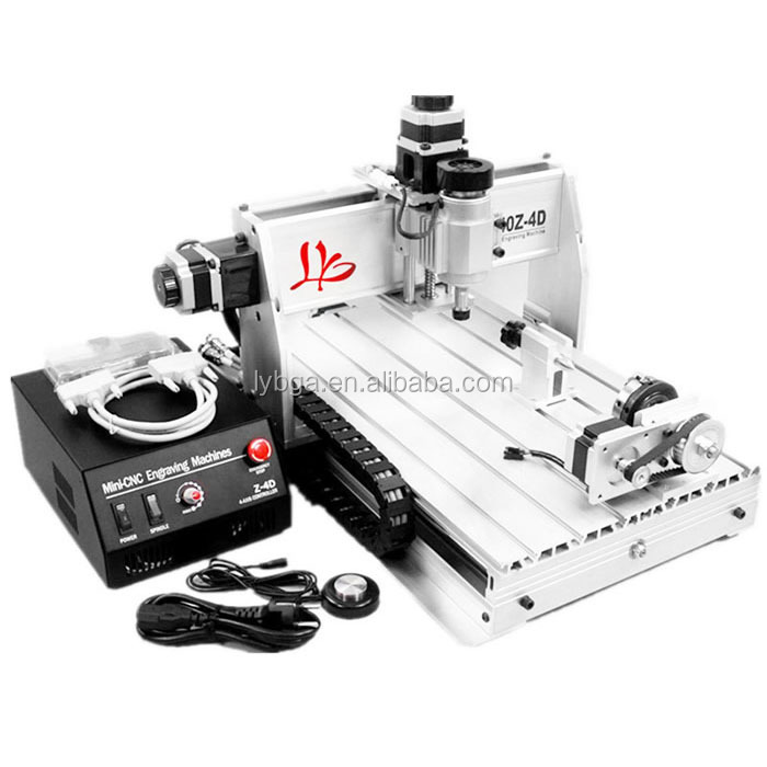 original 3040Z-DQ cnc router equips 4th rotary axis with Ball Screw Design 3d cnc work, send from EU/USA warehouse