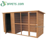 Large Wooden Outdoor Garden Cat Kitten Pet House Kennel Run Shelter Lodge DFD012