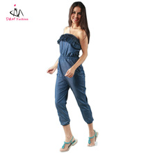 2013 new Hottest Demin Jumpsuit Strapless Jumpsuit For Lady