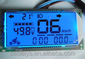 Rohs high contrast quality made electric bike lcd display module in Shenzhen