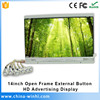 14 inch oem push button function open frame screen lcd display panel