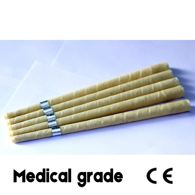 pesticide residue free unbleached organic muslin fabric pure natural beewax ear candle