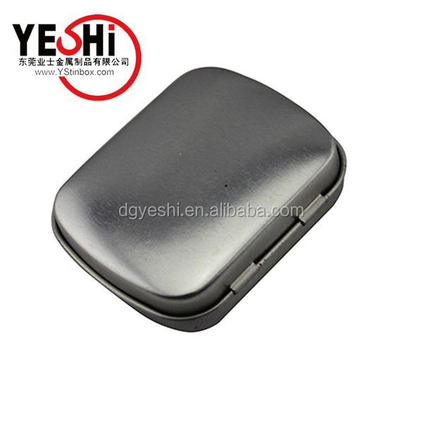 Small Rectangular Mints Metal Container