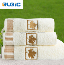 Good Quality 100% Cotton 3 PCS/Lot Embroidery Towel Hand+Bath +Towel