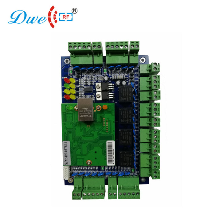 Tcp/ip 4 door access control PCB board rfid reader module controller