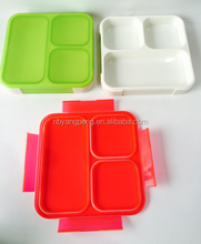 Microwavable Bento 3 compartment plastic lunch box
