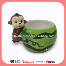 Monkey 3D easter candy bowl ceramic
