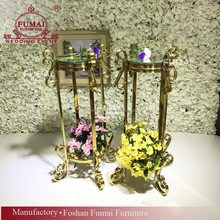 Party and event gold frame used wedding decoration flower arrangement stands