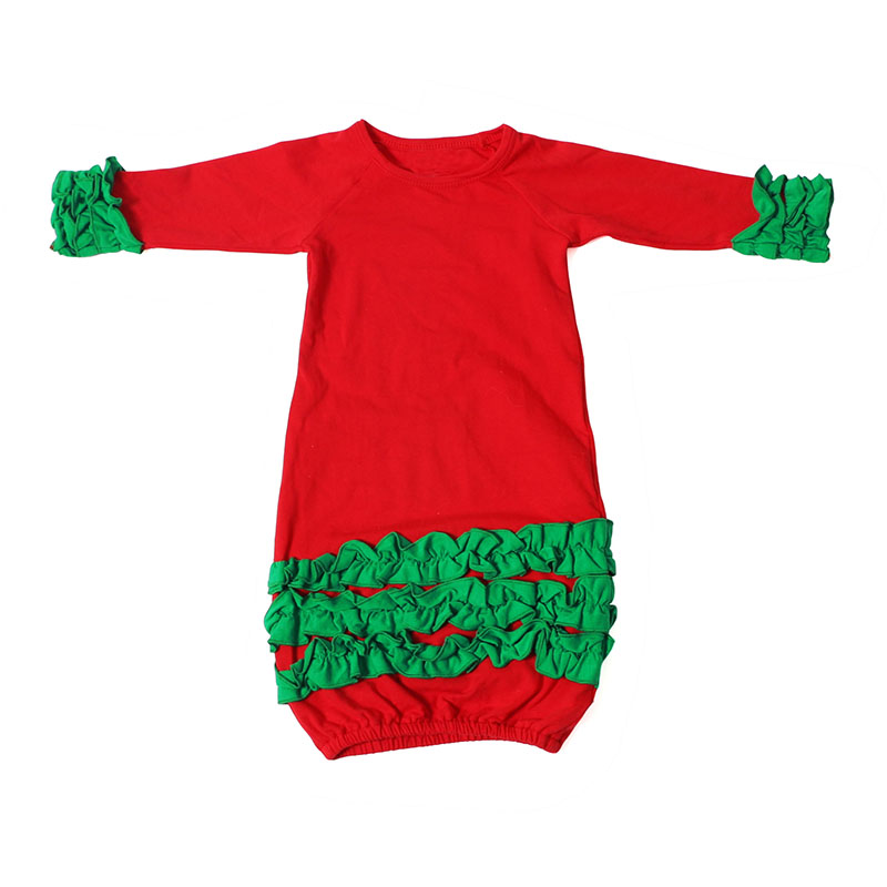 Popular baby girl christmas outfit baby gown baby clothes