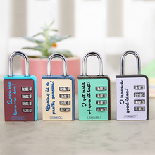 4 Color Cartoon Printed 4 digit Combination lock OEM