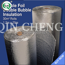 Metalized aluminum foil bubble facing fireproof material thermal insulation for building materials