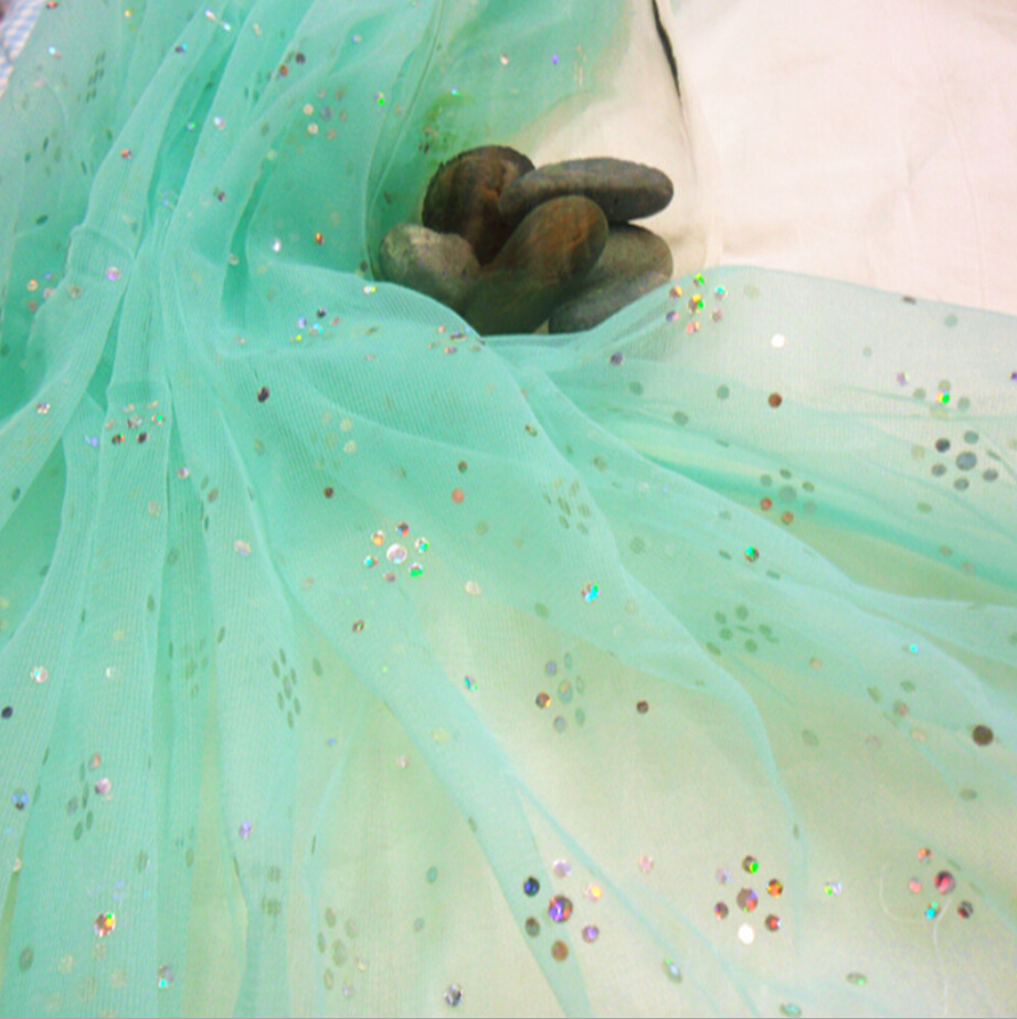 Luxury Multicolor Mosquito Net Fabric of Mesh Fabric with Sequin