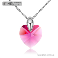 Heart Pendant Necklace Swarovski Elements Crystal Necklace 101803