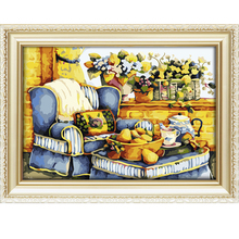2017 high quality little sweet house wholesale diy oil painting art on canvas by numbers for kid room a114