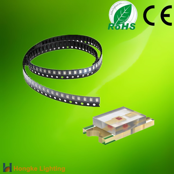 Super Bright Surface Mount Light Emitting Diode 2.9V 382mcd White Color 1206 SMD LED