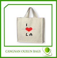 custom high quality eco custom cotton coated pvc shopping bag