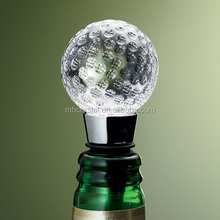 Crystal golf ball crystal wine bottle stopper MH-QT095