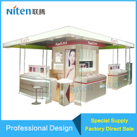Big brand cosmetic acrylic display stands ,fashion design makeup and skin care shop
