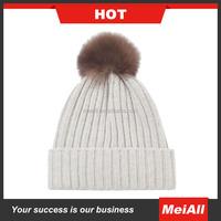 Mens Knit Cotton with Fleece lining Long Cuff Beanie Pattern Knitted Hat/Hats Cap Hip-hop Skull Design Watch Cap