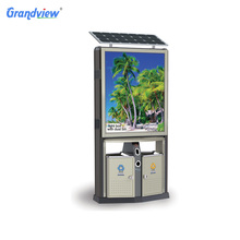 Guangzhou wooden outdoor advertising led customized light box with trash bin