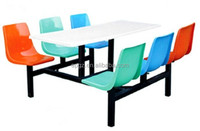 Chinese Wholesale Restaurant Furniture Fiber Glass Dining Table And Chair Sets