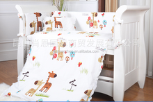 Custom lovely printing baby cotton bedding set