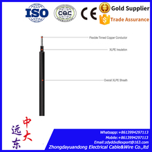 high quality solar system 4mm2 PV cable