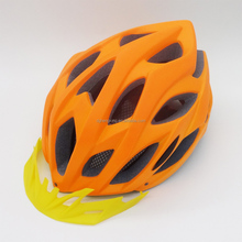 Orange color helmet, custom bike helmets, LED light headgear helmets