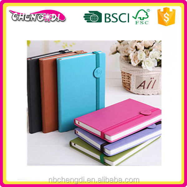 Super style office supplies PU cover business a5 notebook
