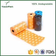 High Quality new style biodegradable plastic garbage bags with printing logo