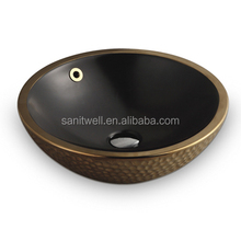 2017 Durable Small Size Round Shaped Ceramic Hand Wash Basin for Home or Hotel Use
