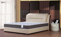 Soft bed room furniture Sleeping Bed with solid wood leg
