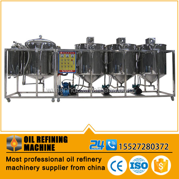 Small RBD oil refining machine,degumming deacidification decoloration deodorization dewaxing machine for refined sesame oil
