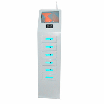 Mobile charging locker phone charging machine with advertising player