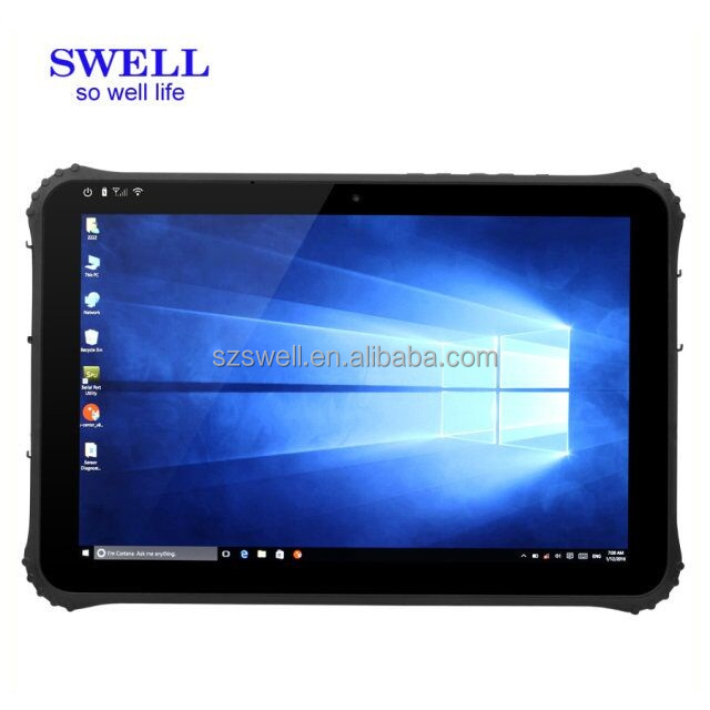 I22H Dual Boot Handheld 12 inch rugged tablet ip65 rj45 serial port keyboard with touch pad 280 nit screen intel Z8300 CPU WIFI