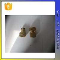 "Brass Fitting Hex Head Plug 1/4"" NPT Male"