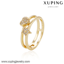 13950-fashion jewelry market 18k fake gold heart star rings