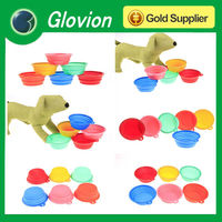 Newest Dog Cat Fashion Silicone Collapsible Feeding Water Feeder Bowl pet supplies Travel Dish Folding dog bowl