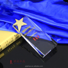 High Quality Custom Made Crystal Shield Trophy Award Christmas Souvenirs